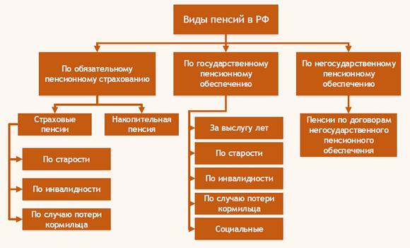 Виды пенсий в России: страховая и государственная, накопительная